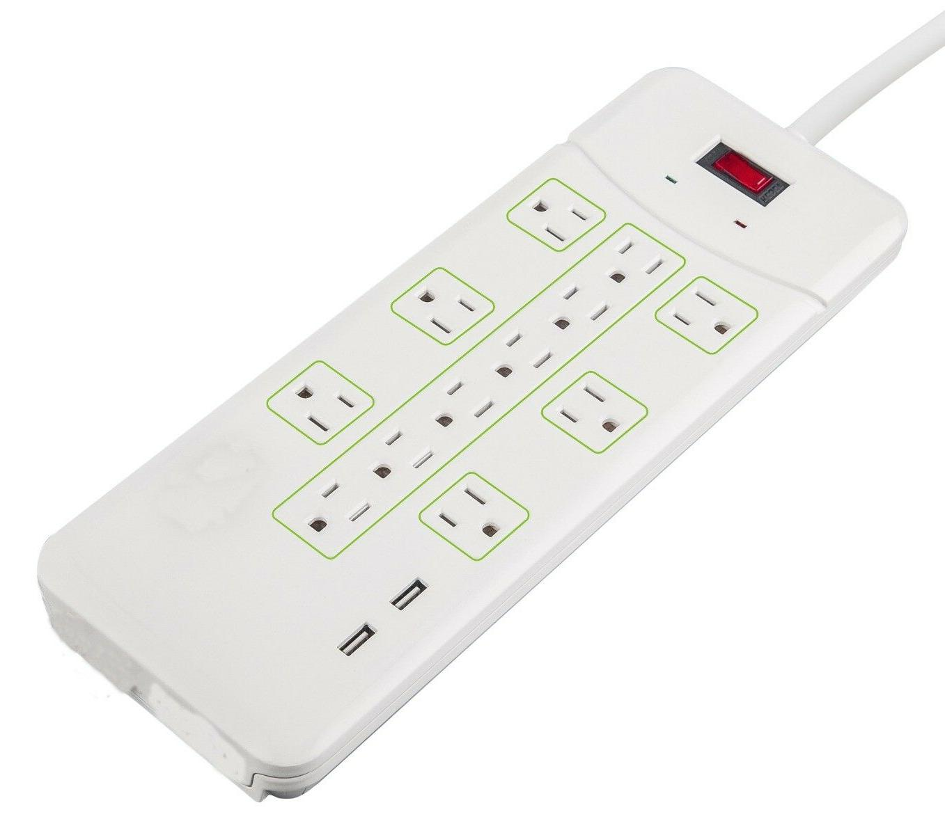 12 outlet power strip surge protector
