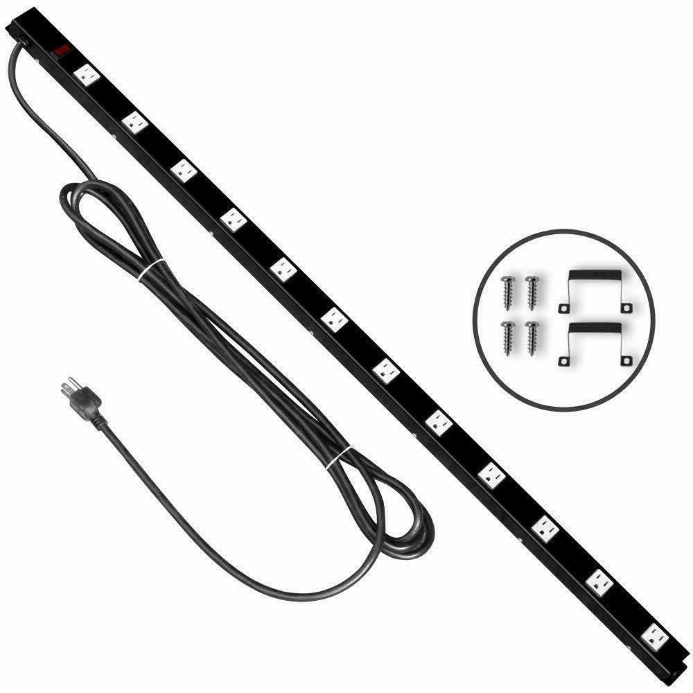 12 outlets power strip 15ft extension cord