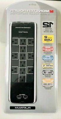 Monster - Power Platinum 1200 Ht 12-outlet Surge Protector -