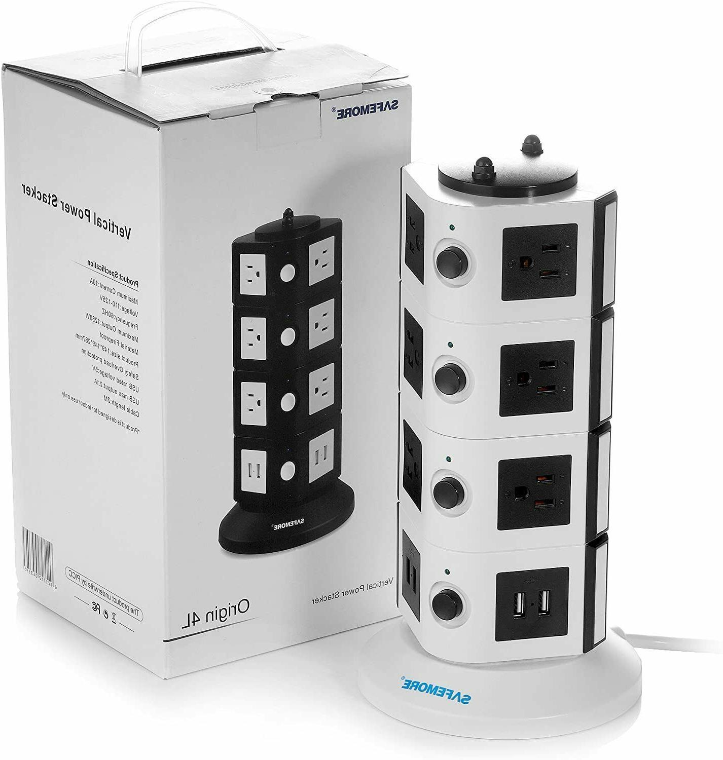 14-Outlet with 2.1A 4 USB Ports and 6.5-Feet