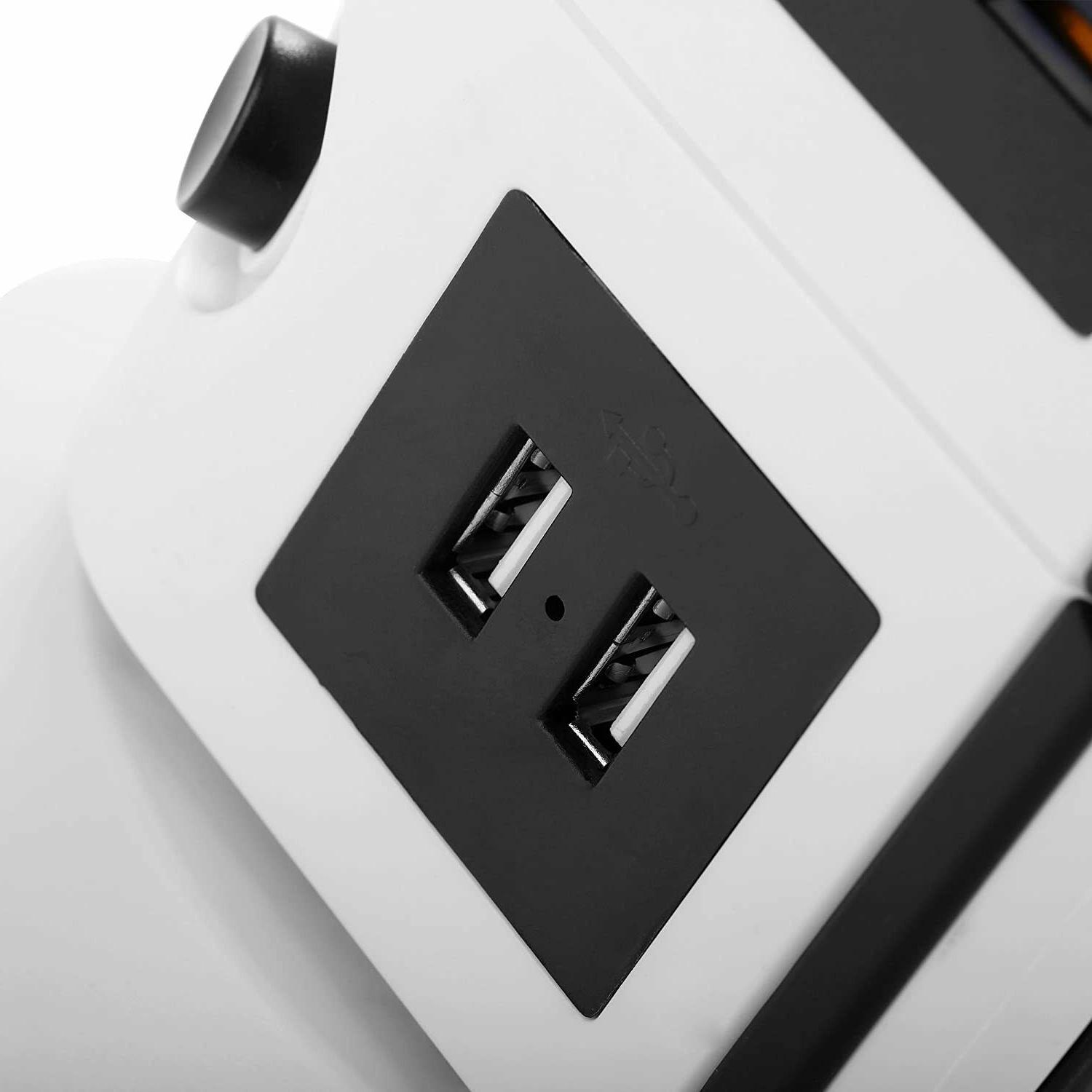 14-Outlet Power Strip with 2.1A USB Ports 6.5-Feet