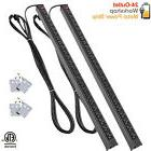 24 Outlet Metal Power Strip with 15 Foot Heavy Duty Long Ex