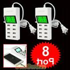2PCS 8 Port USB Travel Wall AC Charger Fast Charge Power Str