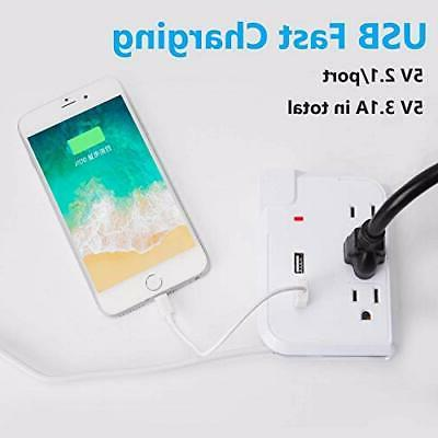 SUPERDANNY 3 Outlet Surge Protector
