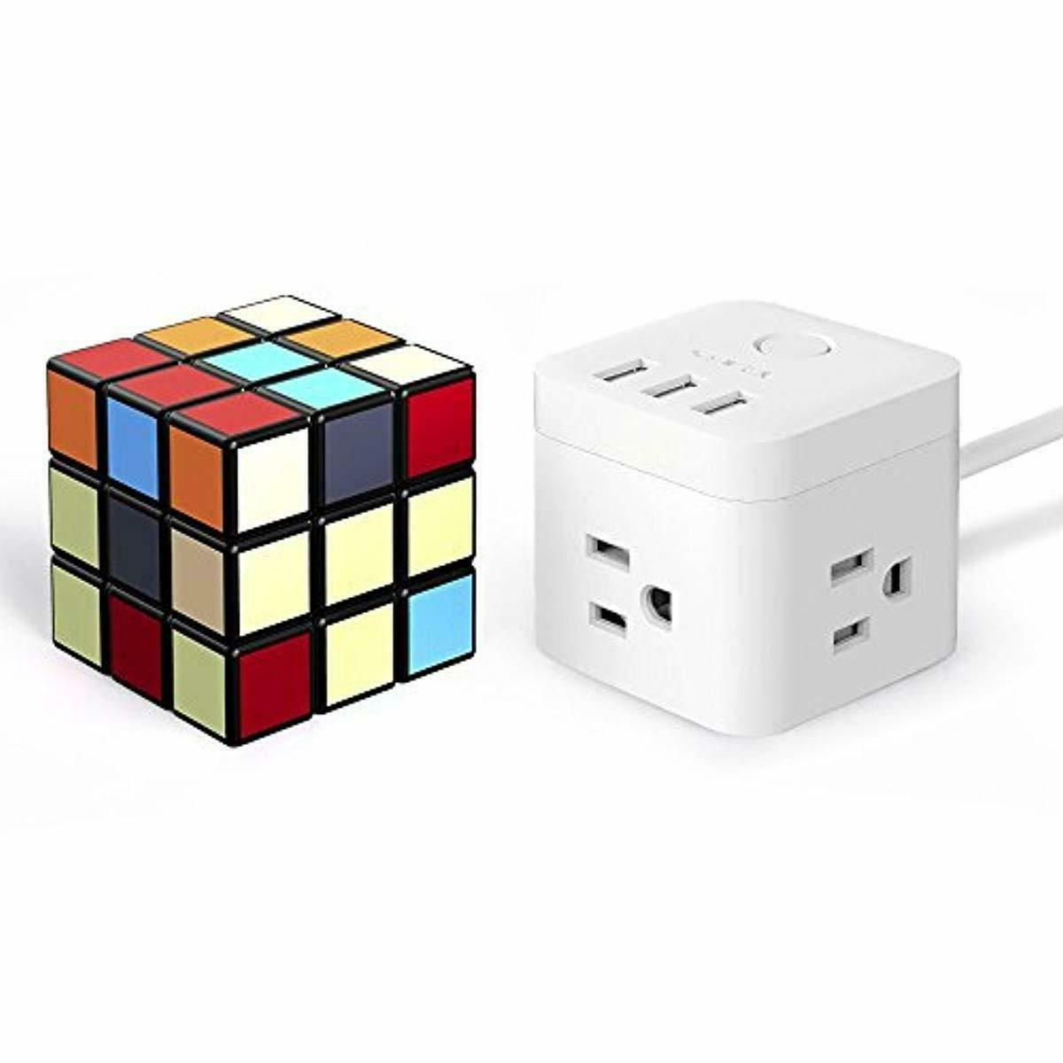 3 Power Strip Compact Cube 3 Smart Charging 4.92ft Cable