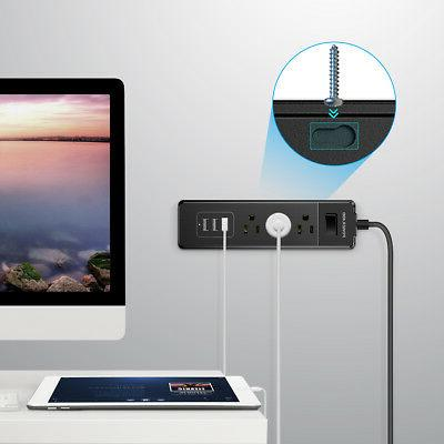 Poweradd 3-Outlet Surge Power Strip 3 USB Charging