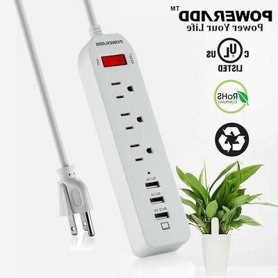3 outlet surge protector power strip 3