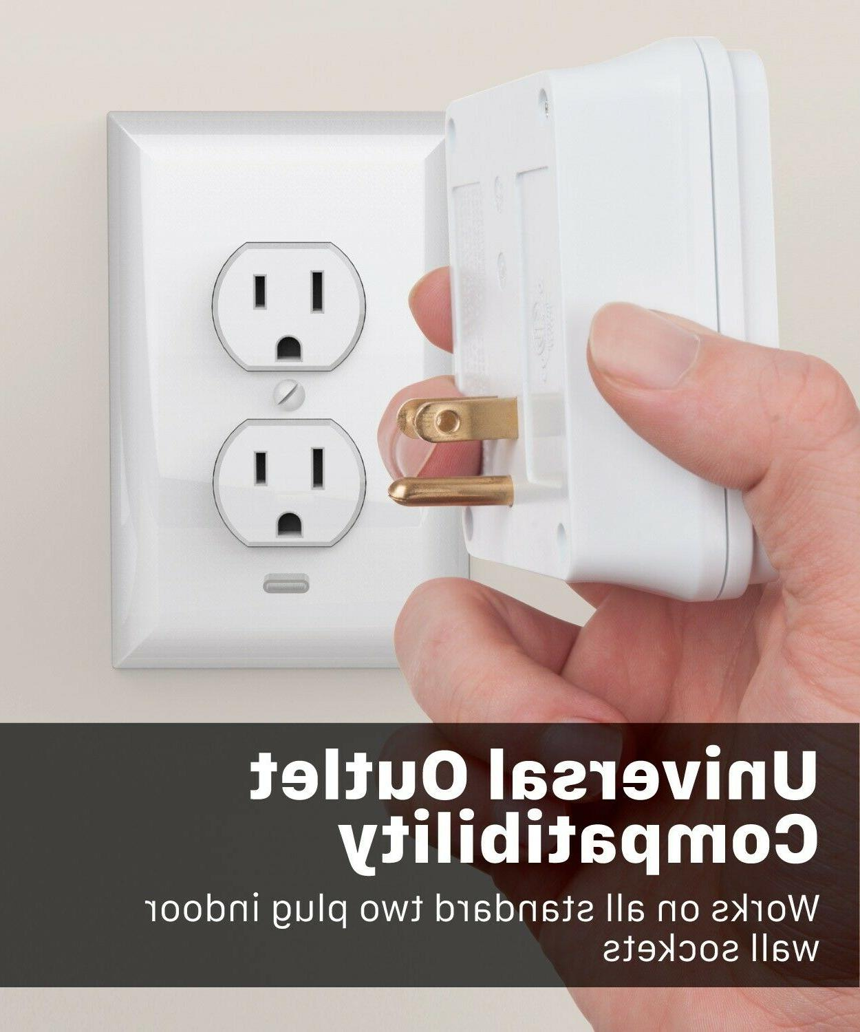 Surge Protector Power Wall Multi Outlet Port Adapter Plug