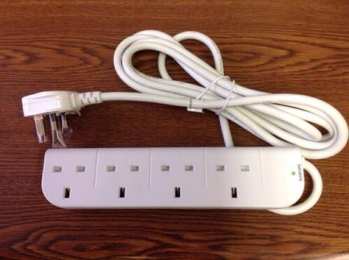 Belkin 4 Outlets Power Strip 9ft Cord F9E400UK3M UK