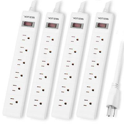 BESTEK 6-Outlet Surge Protector Commercial Power Strip with