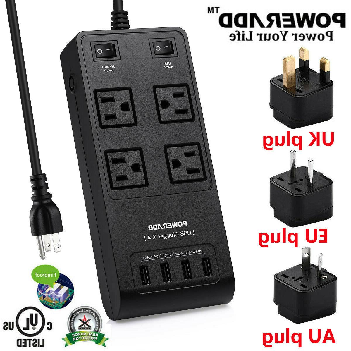 4 power strip surge protector