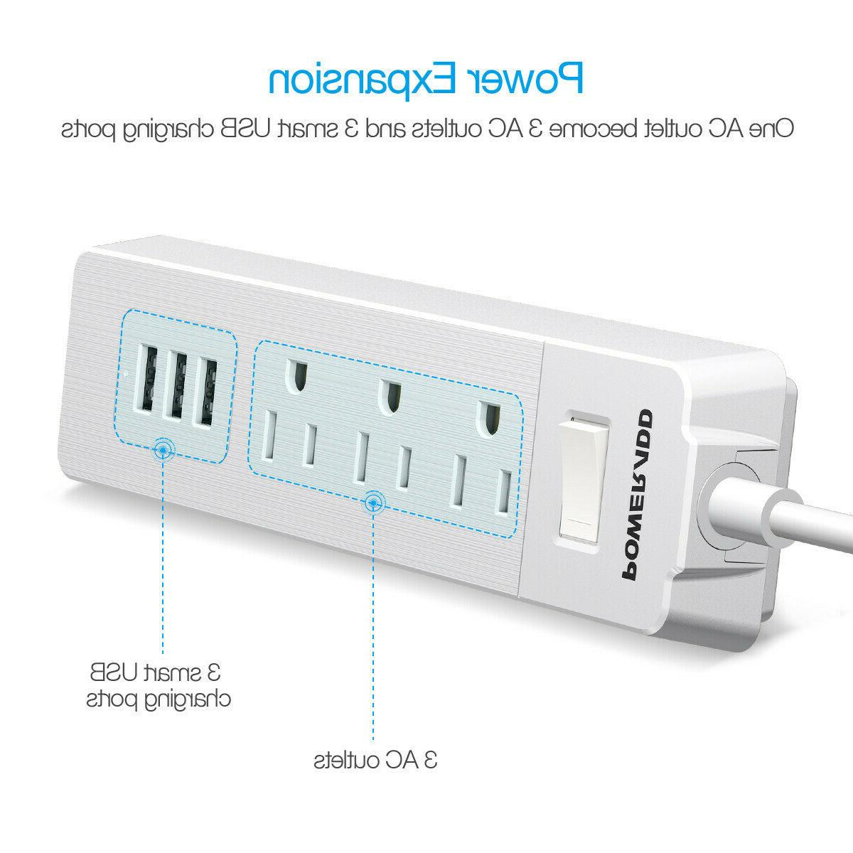 Strip 1250W 3 USB Wall Charger