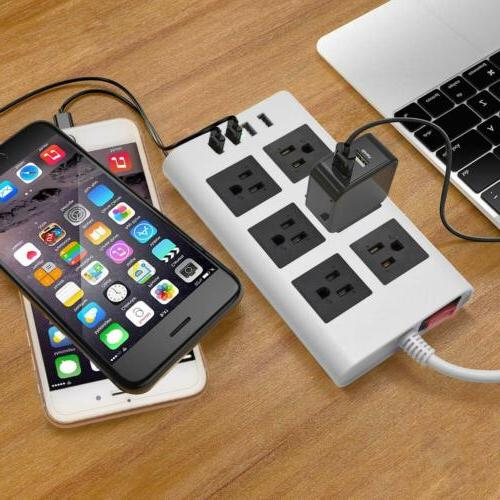 5V USB Power Strip-JACKYLED Right 9.5ft 4 Ports