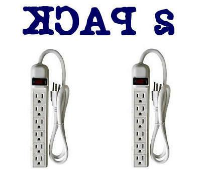 6 outlet power strip with 3 ft
