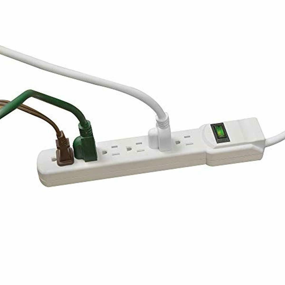 6 Outlet Protector GoGreen Power GG-16103MS 2.5' Cord