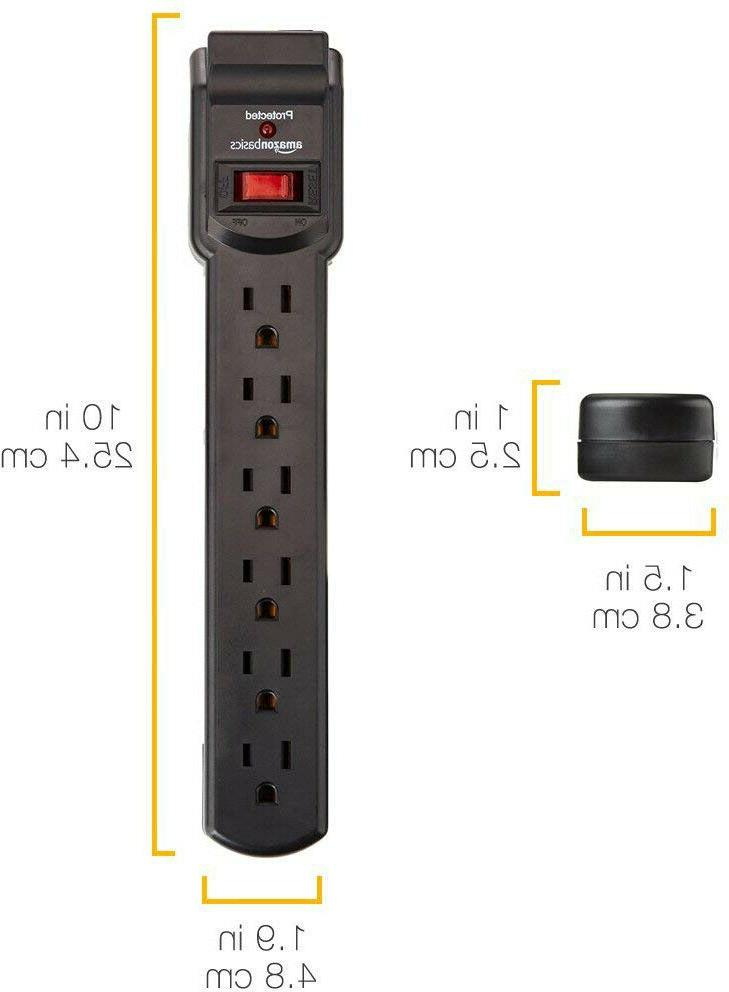 6-Outlet Surge Protector Power Strip