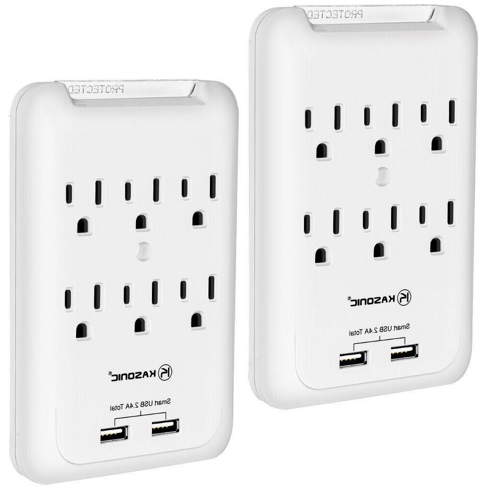 6 outlet wall mount surge protector 2