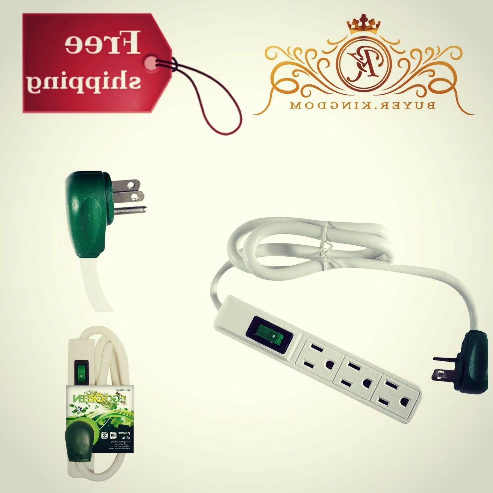 6 pack 3 outlet power strip