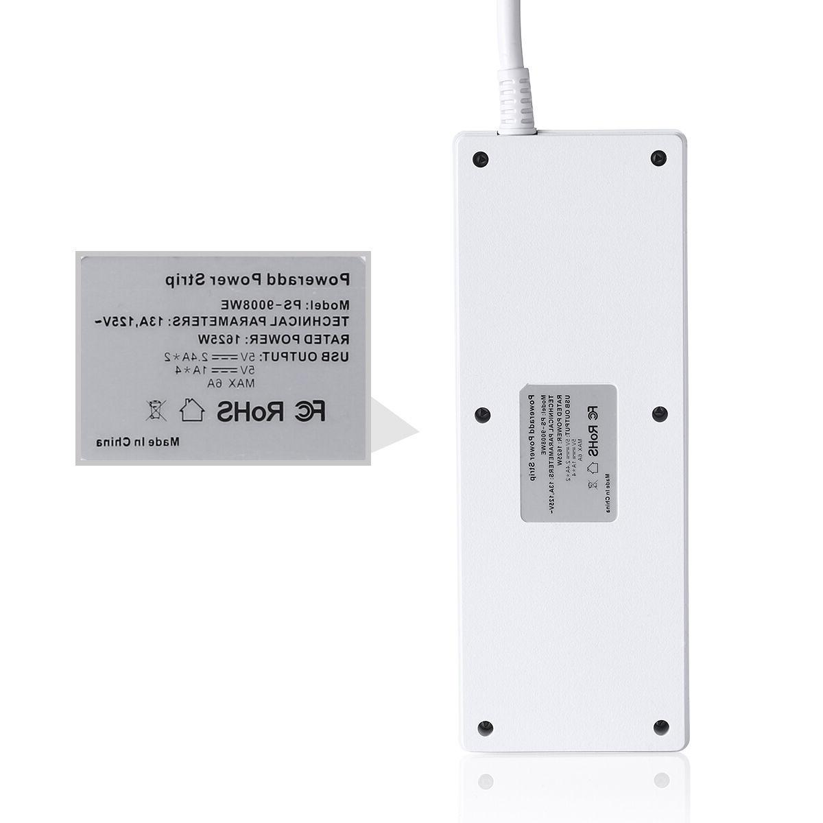 Poweradd Outlet Power Strip Port Surge Protector