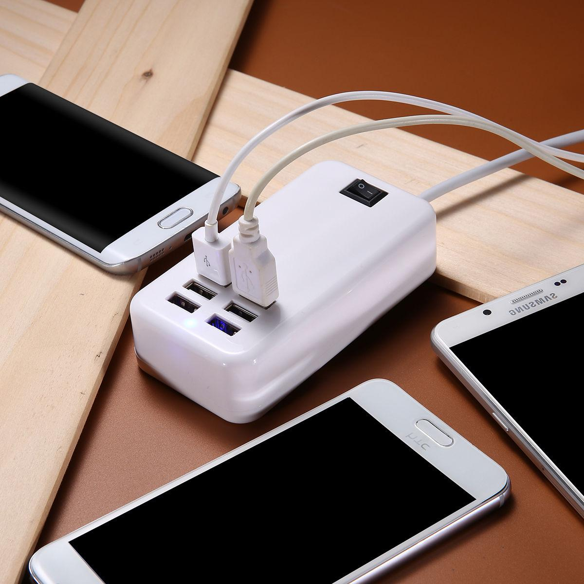 6 USB Outlets Strip Charging USA