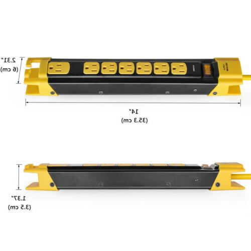 7 Outlet Metal Surge Protector 9 Extension