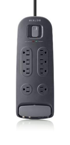 8-Outlet Surge Protector With Cable/Satellite And Telephone