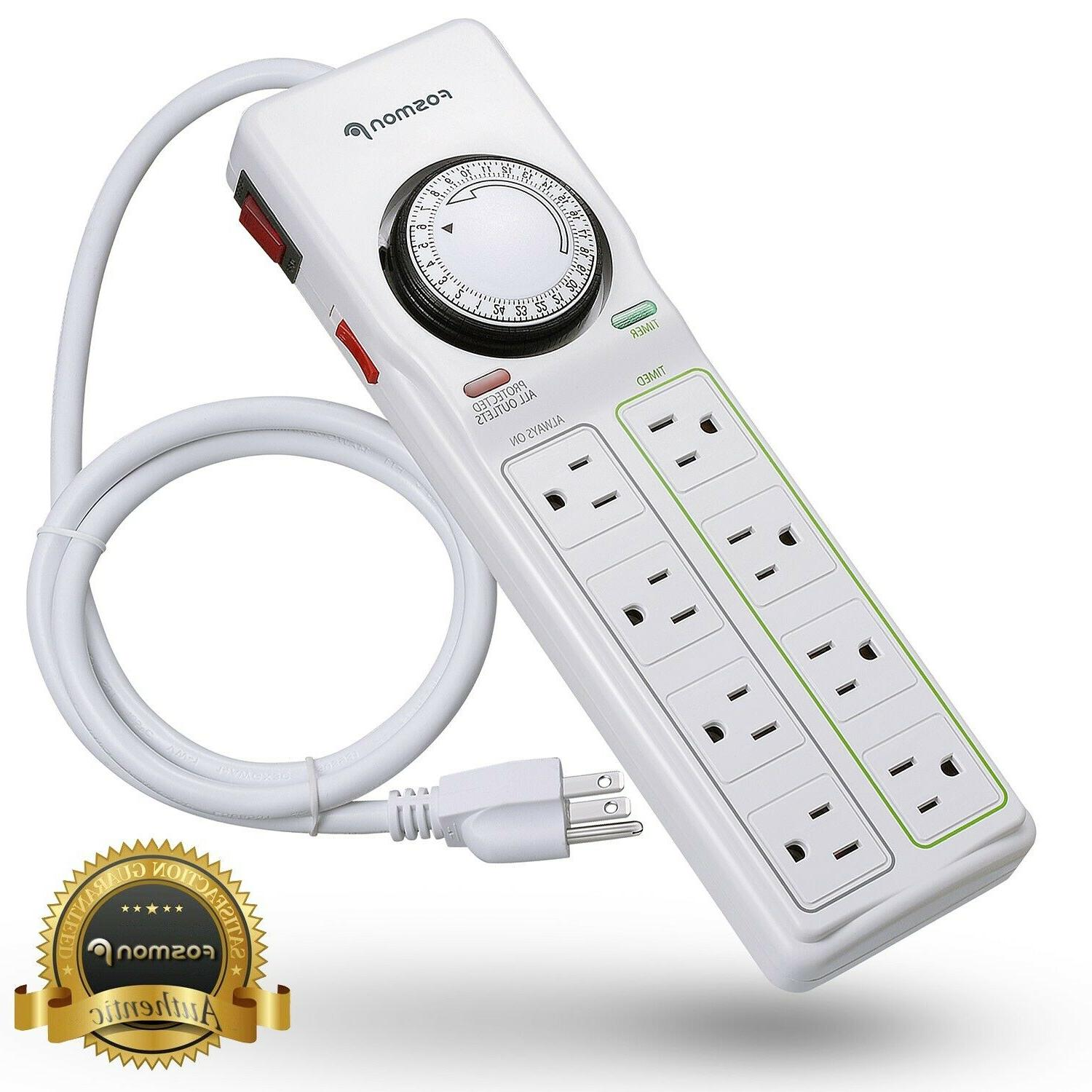 8 outlet power strip 24hr programmable timer