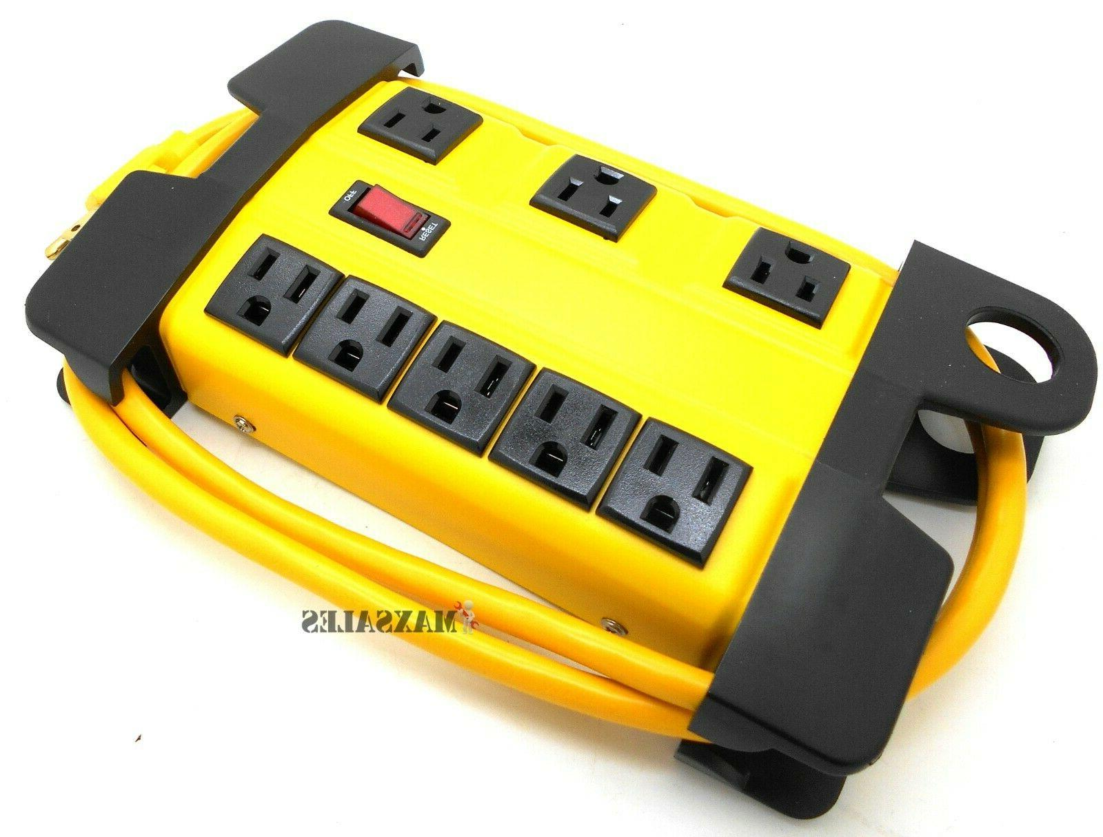 8-Outlet Power Strip Surge Protector w Charging