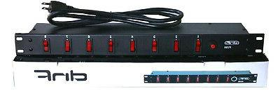 8 switch plug ac outlet power supply