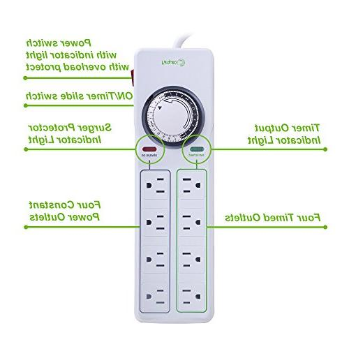 Century Outlet Protector with Mechanical Timer -