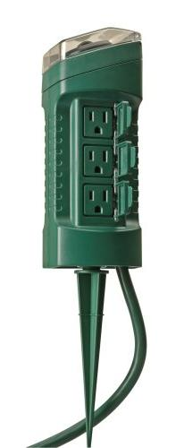 Woods 13547WD Outdoor Yard Stake with Photocell and Built-In