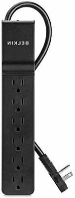 Belkin 6-Outlet Power Strip Surge Protector w/ Flat Rotating