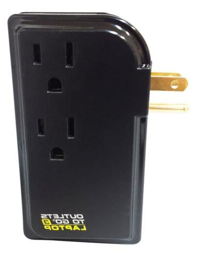 Monster Cable Go Power Strip- 3 Outlets USB Charger Ports