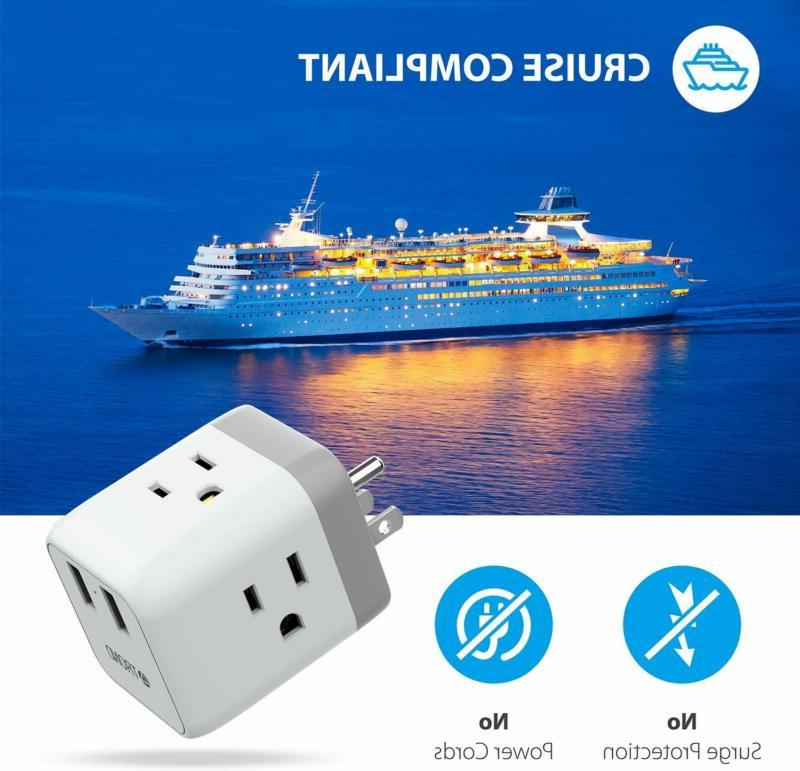 Cruise No Surge Protector, Extender Wall Tap 2