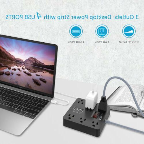 Cruise Power Strip Surge Cord w/ Outlets USB