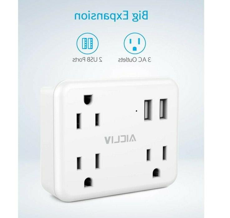 Cruise Power Surge Protector, Outlet with 2 USB Wall