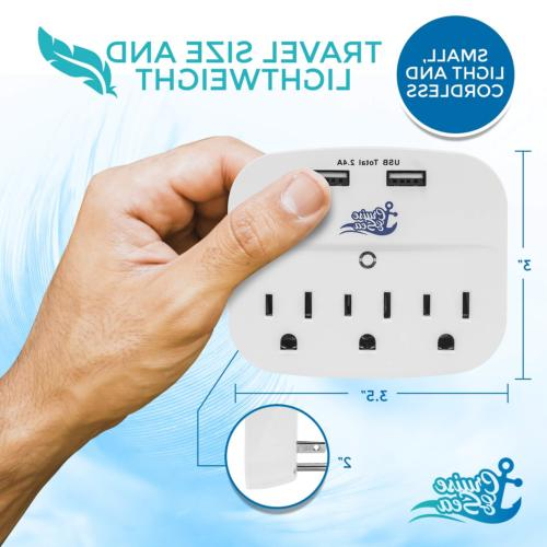 Cruise Strip Tap Surge Protector Cruise Ship Approved 3 2