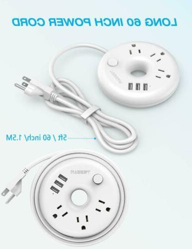 Cruise Ship 3 Outlets Ports, Surge Protection