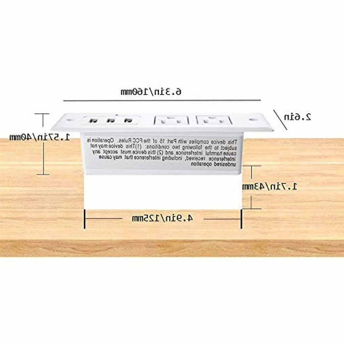 Desktop Power with 2 US Multi-Protection & 6.5ft for