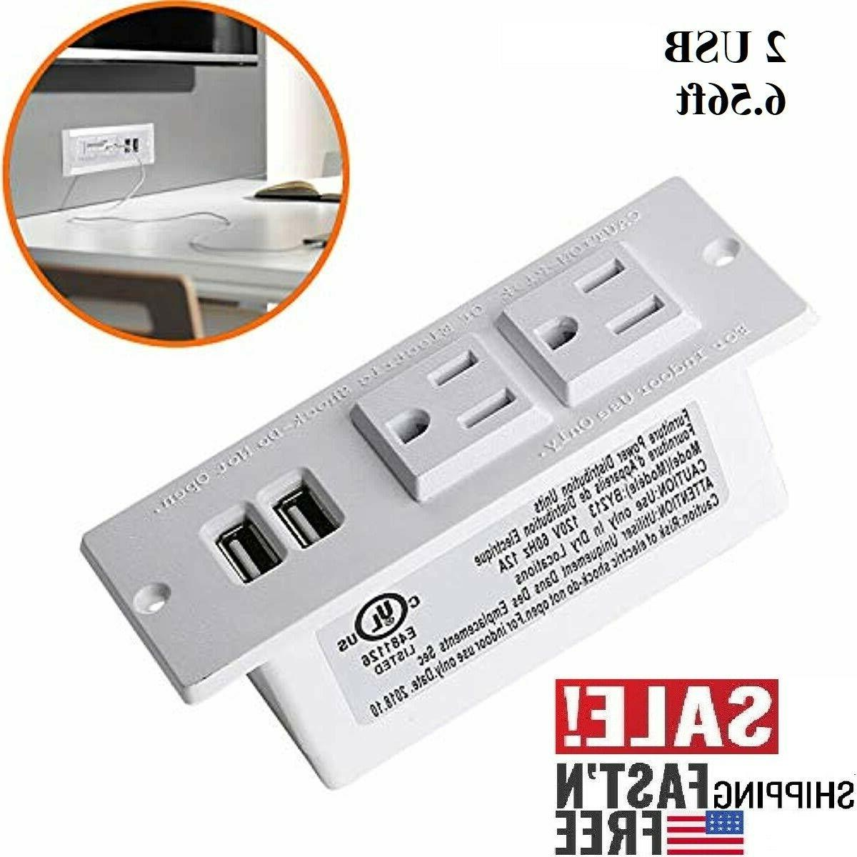 desktop power strip with usb for furniture