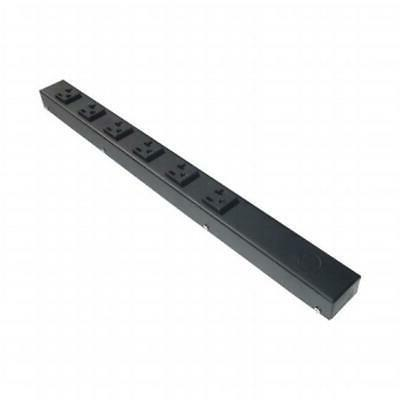 e-dustry EPS-HT02006NV 6 20A Outlet Hardwired Power Strip Bl