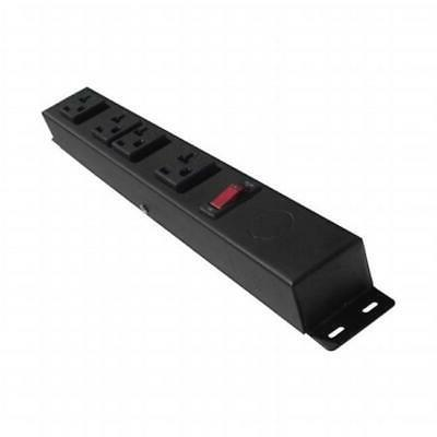 e-dustry EPS-HT104NV3 4 20A Outlet Hardwired Power Strip Bla