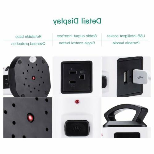 JACKYLED 18 Outlet USB Cord Wire