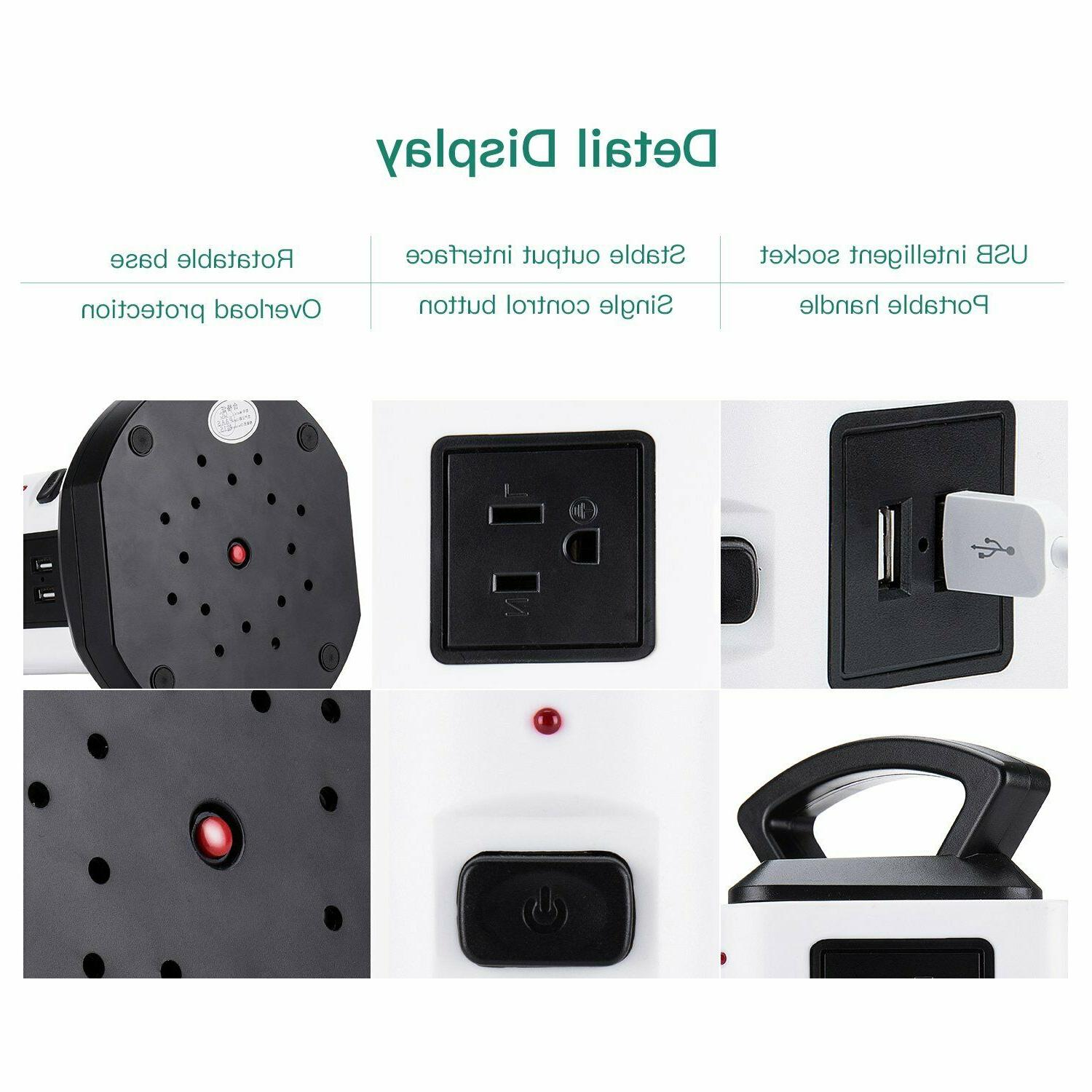 Power Strip JACKYLED Outlet 4 Protector Socket Charging