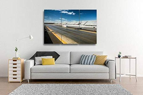 Empty Drag strip3 Pieces Wall Artwork Home Decor Pattern Stretched Piece