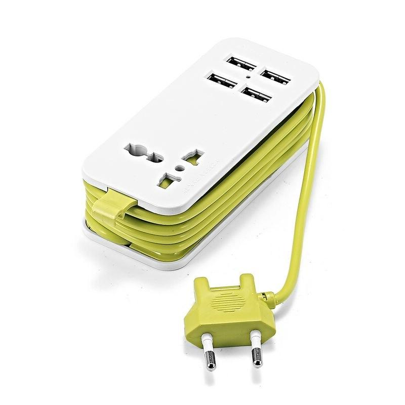 EU With 4 Socket 1.5m <font><b>Cable</b></font> <font><b>Power</b></font> Travel Smart Phone