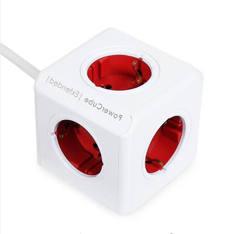 Allocacoc Extended PowerCube Socket 5 Outlets <font><b>Strip</b></font> With 3M/1.5M For Smart Home