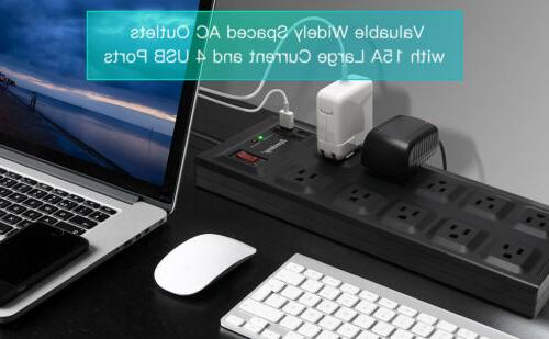 Flat USB Protector Power Outlet 2800J