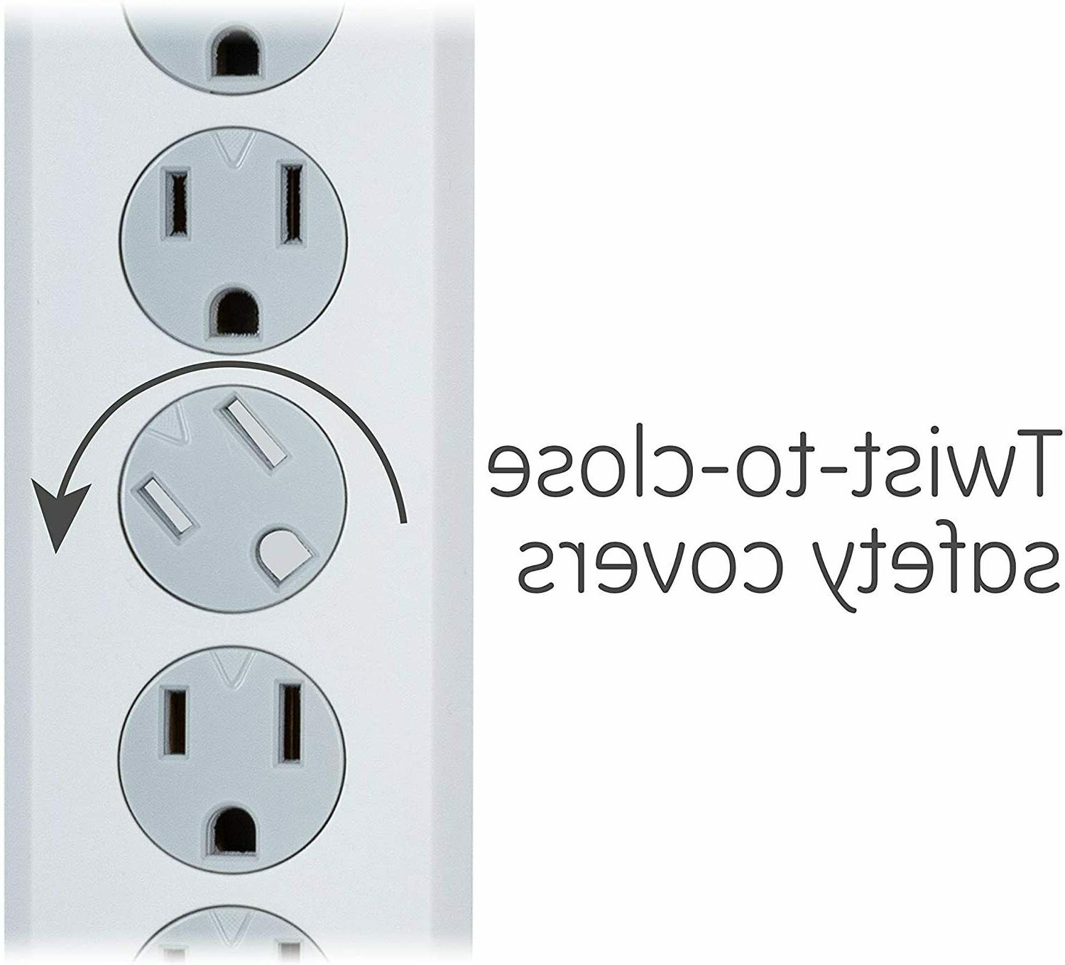 Power Strip 6 Outlet Surge with Extra Long 10