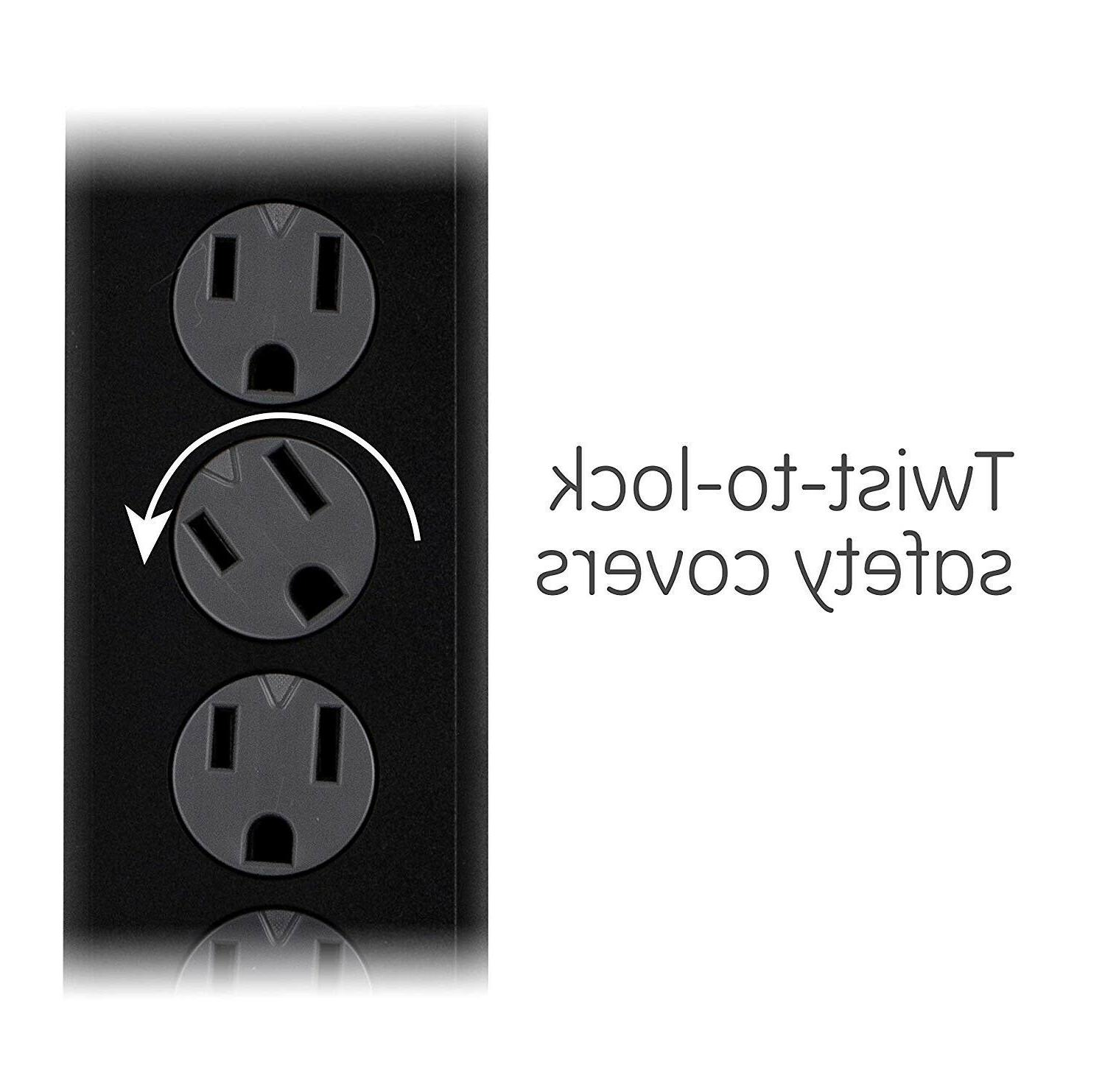 GE Power Protector, 6 Outlets, ft Extra Long Cord,